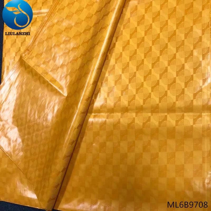 LIULANZHI guinea brocade fabric 100 cotton bazin riche african riche fabric high quality 10yard lot fashion 2019 ML6B97 in Fabric from Home Garden