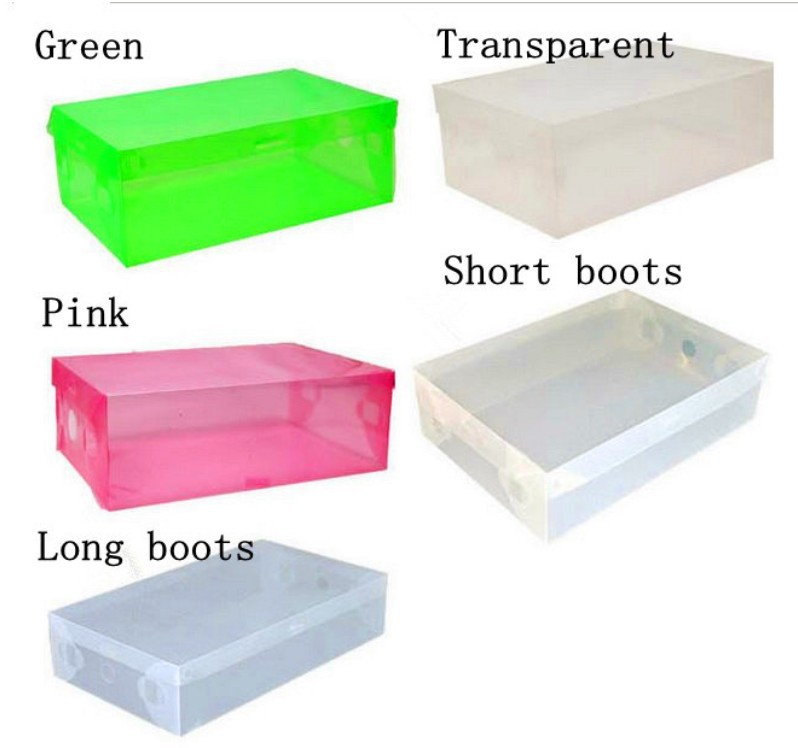 Free Shipping Transparent Plastic Shoes Boxes Clear PP Shoes Storage Boxes Foldable Plastic Woman Boots Boxes Bins Makeup Boxes-in Storage Boxes u0026 Bins from ...  sc 1 st  AliExpress.com & Free Shipping Transparent Plastic Shoes Boxes Clear PP Shoes Storage ...