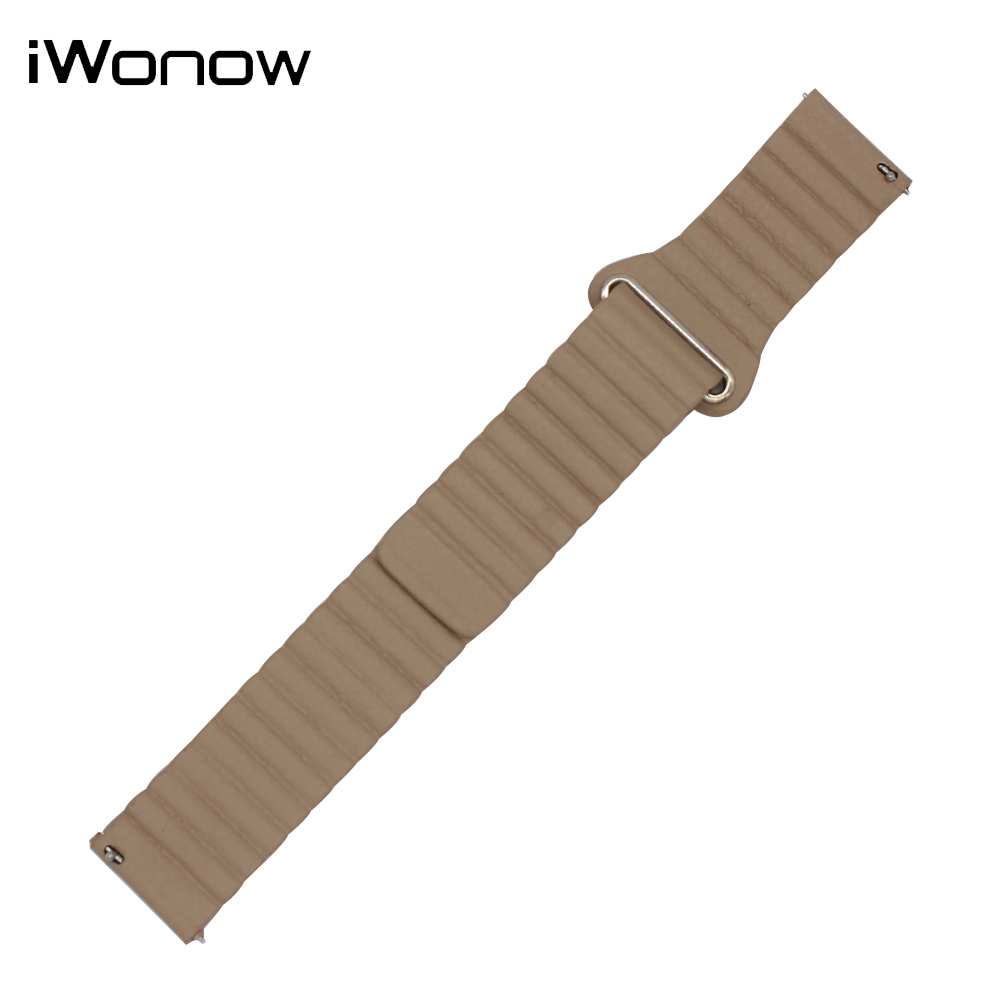 Genuine Leather Watch Band 18mm 20mm for DW Daniel Wellington Magnetic Buckle Strap Wrist Belt Bracelet Black Blue Brown Red 18mm 20mm silicone rubber watch band for dw daniel wellington wrist resin strap stainless stee safety buckle bracelet tools