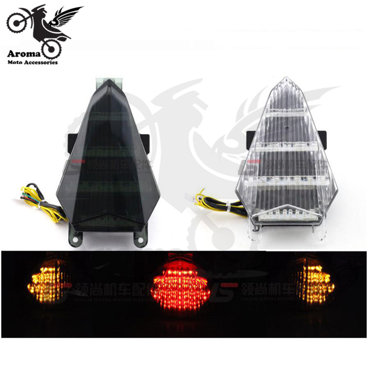 Transparent Smoke Lens Off-road Dirt Pit Bike Motocross Part Motorcycle Tail Light For YAMAHA YZF R6 2006 2007 Moto Brake Light