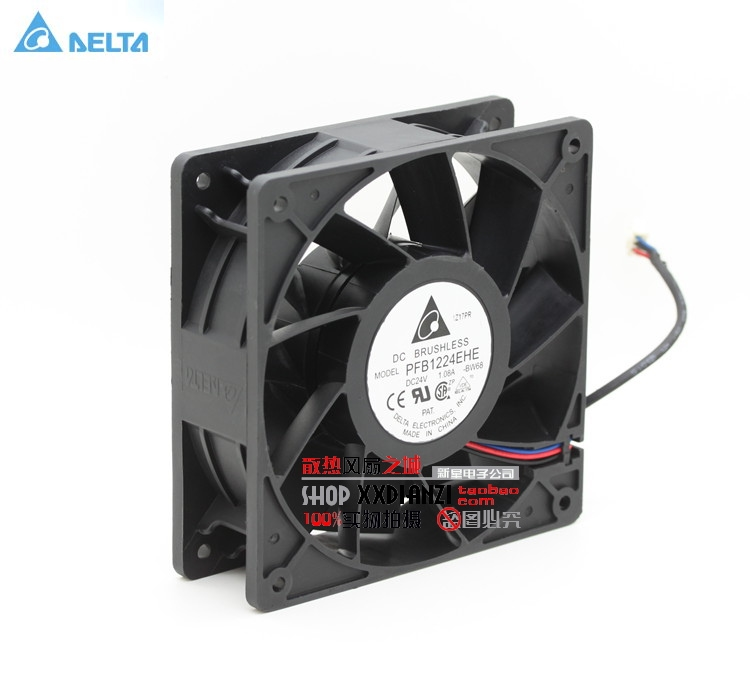 Wholesale Delta PFB1224EHE 12CM 12cm 12038 120mm DC 24V 1.08A server inverter cooling fan original delta ffb1224she 12cm 120mm 12038 120 120 38mm 24v 1 20a cooling fan