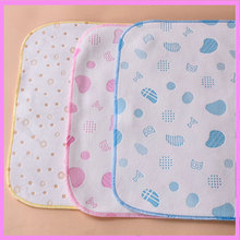 6 PCS/pack Soft Cotton Baby Diaper Cloth Urine Pad Mattress Nappy Changing Mat Washable Baby Cloth Diaper Cover 25*35cm