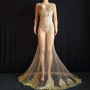Платье с длинным шлейфом, многоцветное платье с кристаллами, супер роскошные большие стразы, вечерний костюм, свадебное платье
