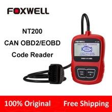 Бесплатная Доставка Дешевые Foxwell NT200 OBD Код Читателя Автомобильный Сканер NT200 Автомобиля Диагностический Инструмент лучше, чем ELM327 AD310