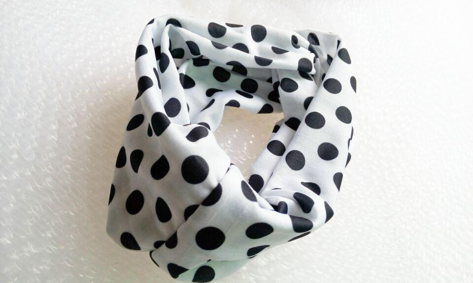 И розничная Модная хлопковая ткань с цветочным узором Тюрбан повязка на голову аксессуары для волос Популярные для женщин и девочек 12 см - Цвет: dot
