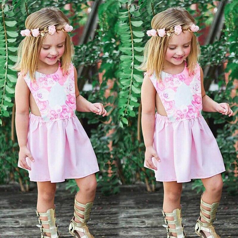Baby Girl Clothes Newborn Infant Girls Dress Pink Fantasy Floral