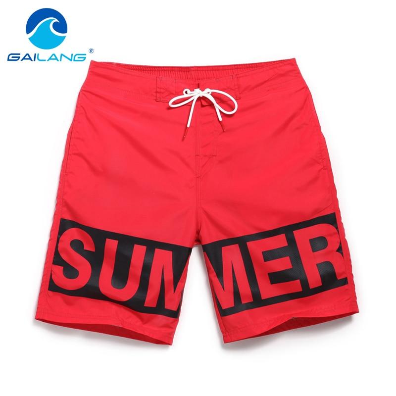 Gailang Brand Mens Shorts Summer Beach Swimwear Men Boardshorts Board Short Quick Dry Swimsuits Man Jogger Trunks