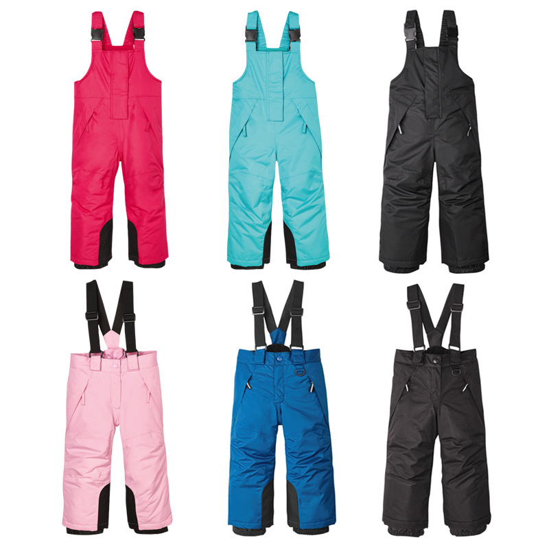 2019 Winter Boys Snow Pants Fleece Warm Kids Skiing Overalls Sport Snowboard Children Ski Trousers Waterproof Baby Clothes