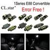 16pcs Error Free LED Interior Light Kit For BMW 1 Series E88 Convertible Cabrio Cabriolet 118i