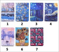 Hot Abstract painting PU Leather Stand Flip Case Cover for iPad mini 1 2 3 for apple Oil Painting great picture famouspaint Gift