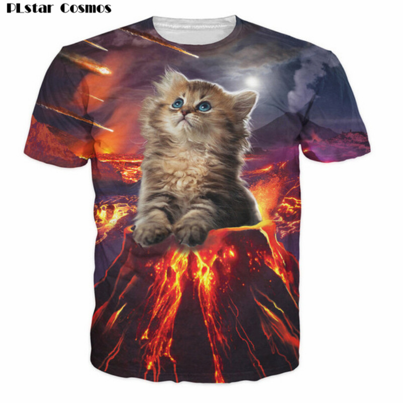 PLstar Cosmos Kitten Invasion T-Shirt kittens overlords spreading fear destruction lasers Cat 3D T