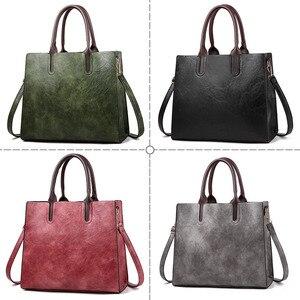 Image 3 - Знаменитые брендовые дизайнерские сумки, кожаные сумки, женские вместительные винтажные сумки с ручками, однотонные сумки тоут, женская сумка через плечо