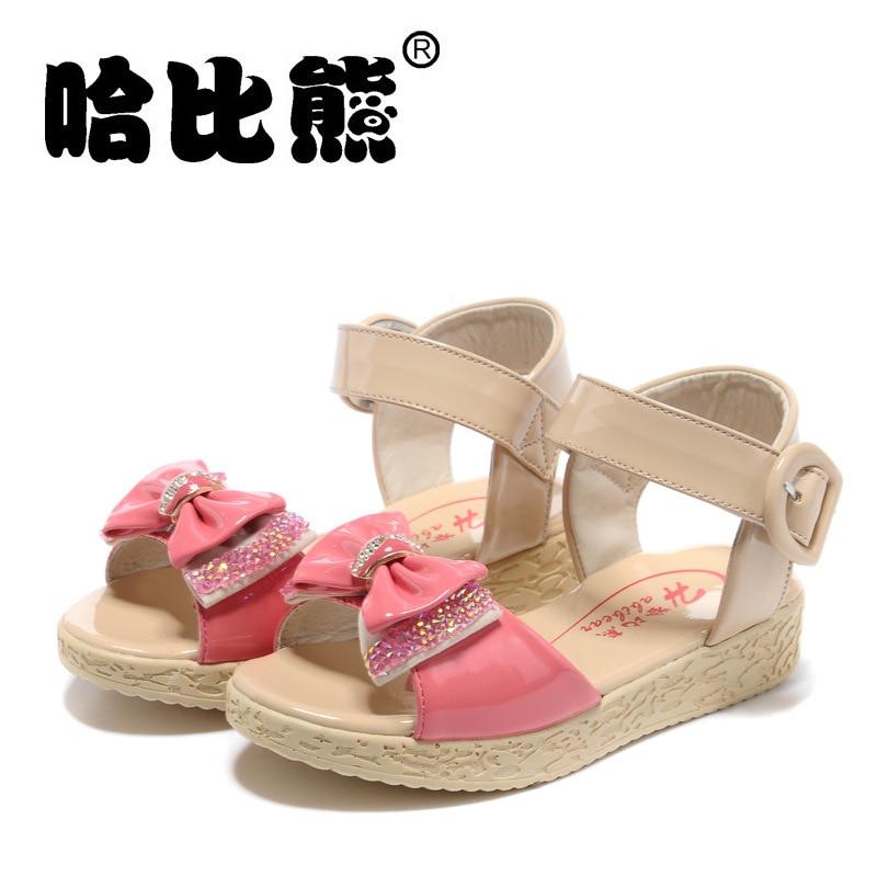 2014 New HABIBEAR Korea Style Princess Bowknot Sandals, Girl's Summer Sandals, Beach Shoes, Anti Skidding Shoes
