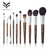 10Pcs Makeup Brushes Sets Powder Blush Foundation Eyeshadow Eyeliner Lip Cosmetic Beauty Make Up Brush Tool