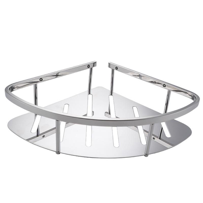 2017 luxurious polished stainless steel 304 single bathroom corner baskets triangular tub and. Black Bedroom Furniture Sets. Home Design Ideas
