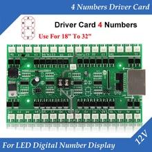 4 numaraları Sürücü Kartı Kullanımı Için 18 inç ila 32 inç LED Dijital Numarası Modülü Gaz Yağı Fiyat LED Burcu kontrol Kartı