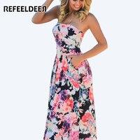 Beach Summer Dress 2016 Off Shoulder Long Maxi Dress Women Tunic Boho Floral Floor Length Dress