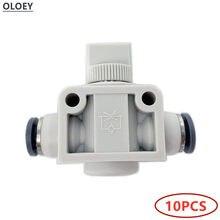 10 peças pneumáticas plásticas od 4 6 8 10 12mm da mangueira do conector do impulso do ar dos encaixes rápidos de 10 pces hvff 2/duas maneiras