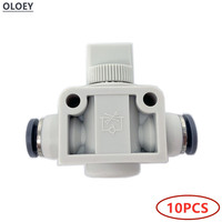 10PCS HVFF 2/Two Ways Quick Fittings Pneumatic Air Push Connector Tube Hose Plastic Pneumatic Parts OD 4 6 8 10 12mm