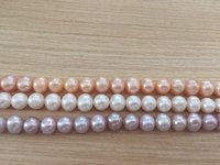 REAL PEARL Fashion Freshwater Pearl Necklace Pearl Strand 9 10mm Near Round Shape