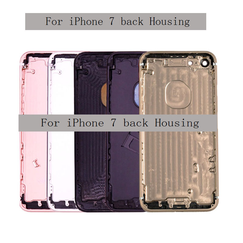 New For Iphone 7 Back Cover Housing Battery Rear Door Case Middle Chassis Frame With Side Buttons Assembly For Iphone 7 Plus