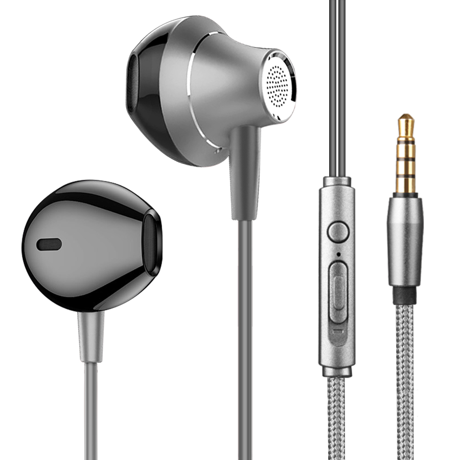 AIPAL HD4 מקצועי באוזן אוזניות מתכת בס HiFi מוסיקה אוזניות עם מיקרופון עבור xiaomi iPhone 5 6 se קווית אוזניות
