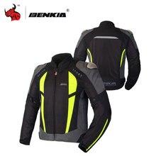 BENKIA Motorcycle Racing Jackets Men's Motocross Jacket Protective Riding Jersey Chaqueta Moto Jacket For Spring Summer Autumn