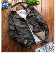 Autumn Camouflage North Face Hoodie TactIcal Jacket Man Double Sided Wear Quick Drying Coat CASUAL Loose