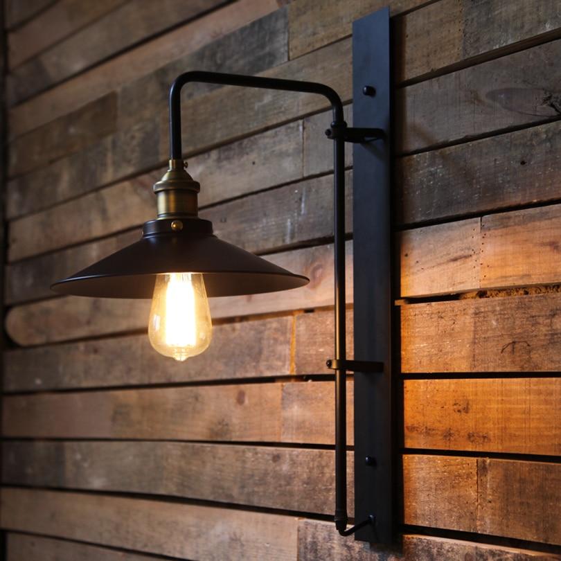 Industrial Wall Light Bedroom: Retro Loft Edison Wall Lamp Bedroom Wall Lights For Home