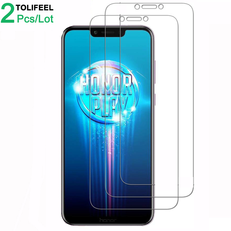 2Pcs Tempered Glass For Huawei Honor Play Screen Protector 9H 2.5D Phone On Protective Glass For Huawei Honor Play Glass