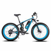 Cyrusher XF800 1000W 48V Electric Bike Full Suspension frame 7 Speeds widewheel road Bike outdoor smart speedometer Ebike