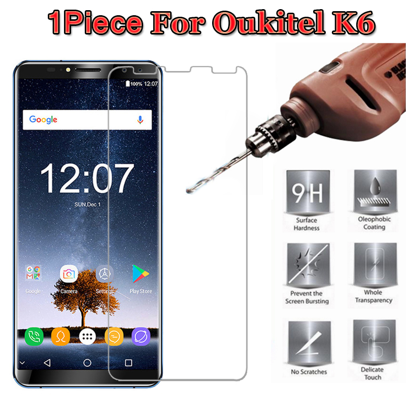0.3mm 2.5D 9H Premium Tempered Glass For Oukitel K6 Screen Protector Protective Glass Film For Oukitel K6 Pelicula De Vidro >