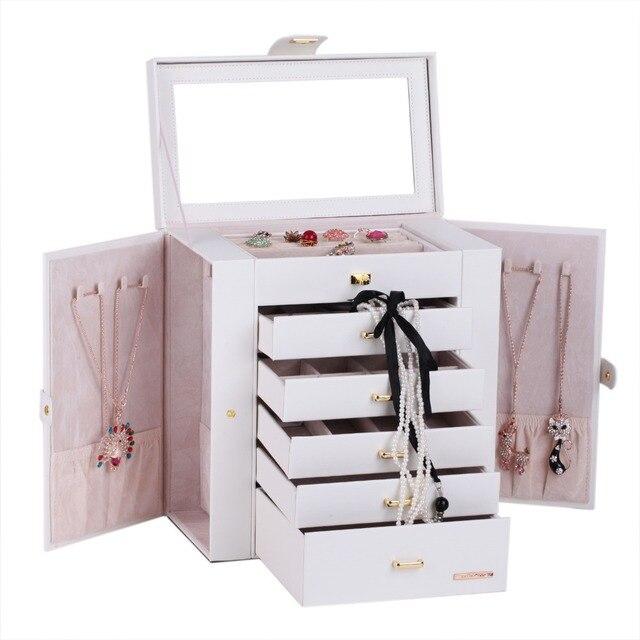 Aliexpresscom Buy White Huge Jewelry Cabinet PU Watch Storage