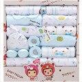 Розничная 18 шт. весной и осенью 100% хлопок характер печатных новорожденных детская одежда подарочный набор для новорожденных одежда нижнее белье костюм