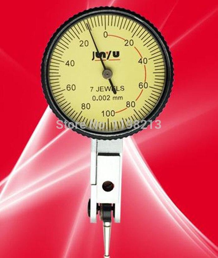 Dial Test Indicator Measuring Tool Leverage dial gauge 7JEWELS 0-0.2MM*0.002mm guanglu dial indicator 0 0 8mm 0 01mm dial test indicator dial test gauge measurement instrument measure tools