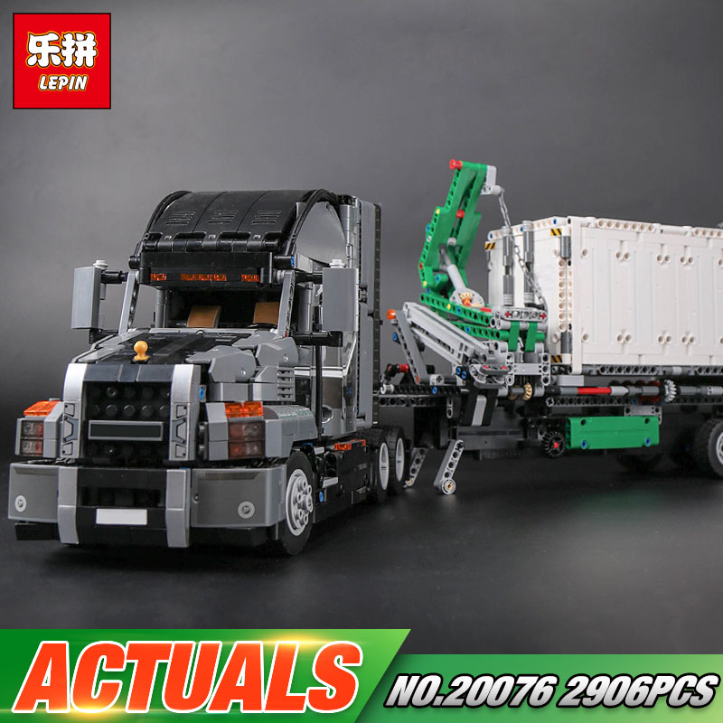 Lepin 20076 Genuine 2907Pcs Technic Series The Mack Big Truck Set 42078 Building Blocks Bricks Educational Toys For Kids As Gift lepin 21010 914pcs technic super racing car series the red truck car styling set educational building blocks bricks toys 75913