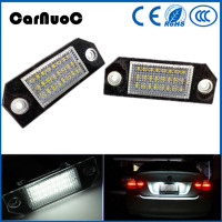 Free Shipping 2PCS 18 SMD LED License Plate Light No Error Lamps For Ford Focus