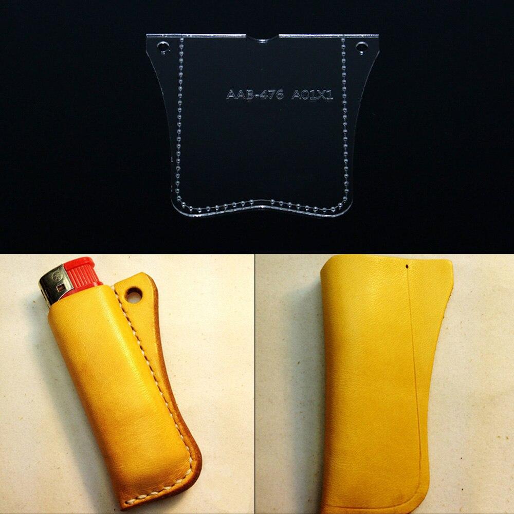 Bricolage fait à la main en cuir marchandises briquet sac de rangement modèle papier treillis papier acrylique modèle en cuir design artisanat en cuir