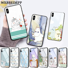 WEBBEDEPP Hippo Cute animal cartoon Protective Glass Phone Case for Apple iPhone 11 Pro X XS Max 6 6S 7 8 Plus 5 5S SE