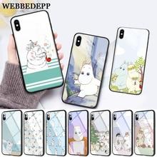 WEBBEDEPP Hippo Cute animal cartoon Protective Glass Phone Case for Apple iPhone XR X XS Max 6 6S 7 8 Plus 5 5S SE