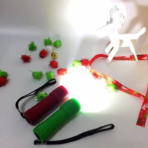 Мини COB пластиковый фонарик aaa батарея 3 Вт светодиодный Рождественский фонарь детский подарок Детская лампа Акция легкий фонарь Портативный lanterna