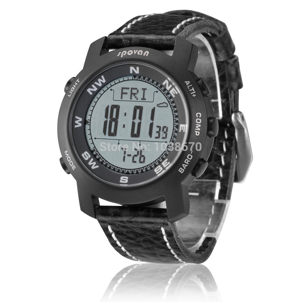 Spovan Bravo-2 Multifunction Digital Sports Altimeter Compass Barometer Pacer Monitor Watch Titanium Climbing Cycling Wristwatch  цены