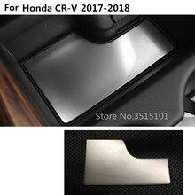 Автомобиль внутренний хранения отделкой контейнер из нержавеющей стали центральной консоли подстаканник коробка передач коврик 1 шт. для Honda CRV CR-V 2017 2018