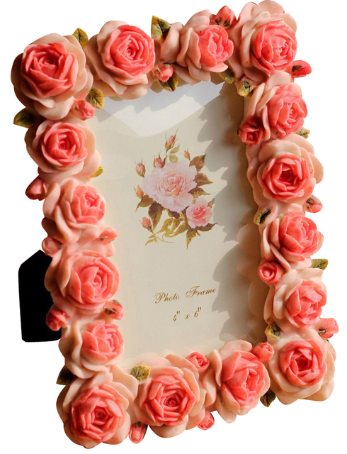 4x6 Rose Photo Frames Pink Decorative Picture Frame Desktop Photo ...