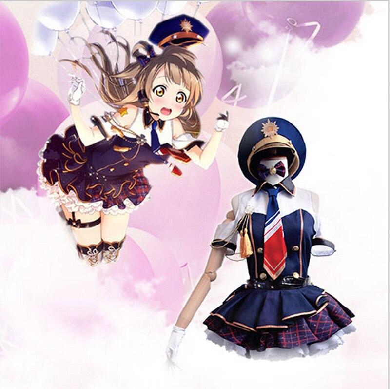 Hot Anime Sweetheart Love Live Project Kotori Minami Cosplay Costume Dress Awakening Police Uniform