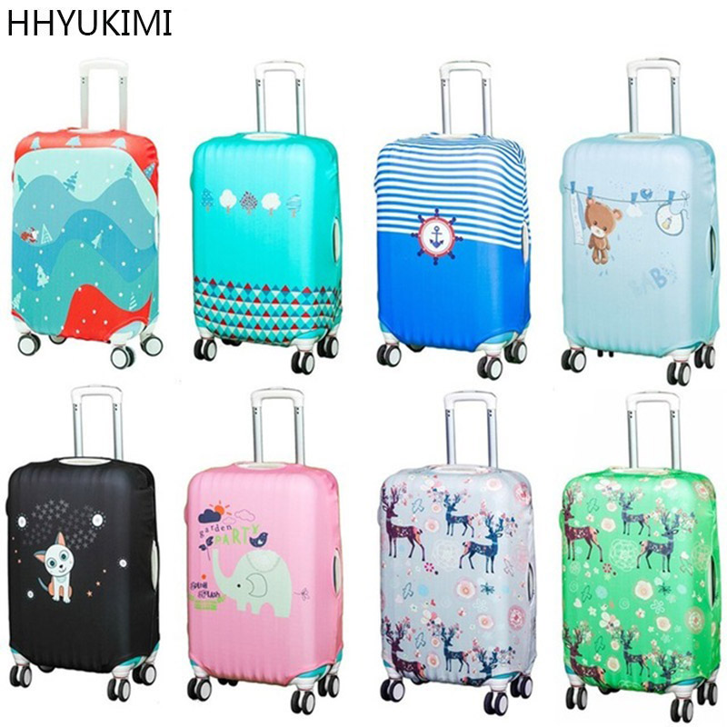 Thicker Blue City Luggage Cover Travel Suitcase Protective Cover For Trunk Case Apply To 19''-32'' Suitcase Cover