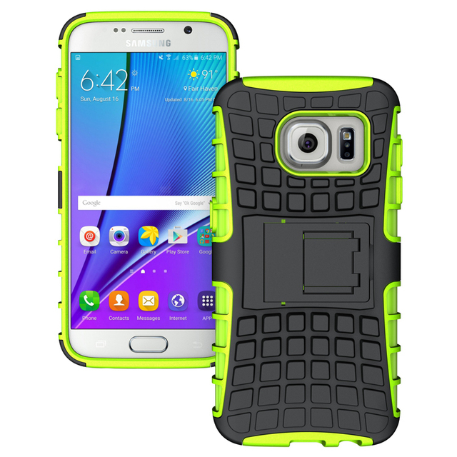huge selection of d1b34 cc258 US $2.29 50% OFF|S7 Case Shockproof Grip Rugged Skin Hard Heavy Case Cover  Kick Stand for Samsung Galaxy S7 Verizon T mobile Sprint-in Fitted Cases ...