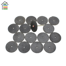 25PC/set 32mm Abrasive Tools Fiberglass Reinforced Cutting Disc Cut Off Wheel with 1 Mandrels for Dremel Rotary Tool Accessories