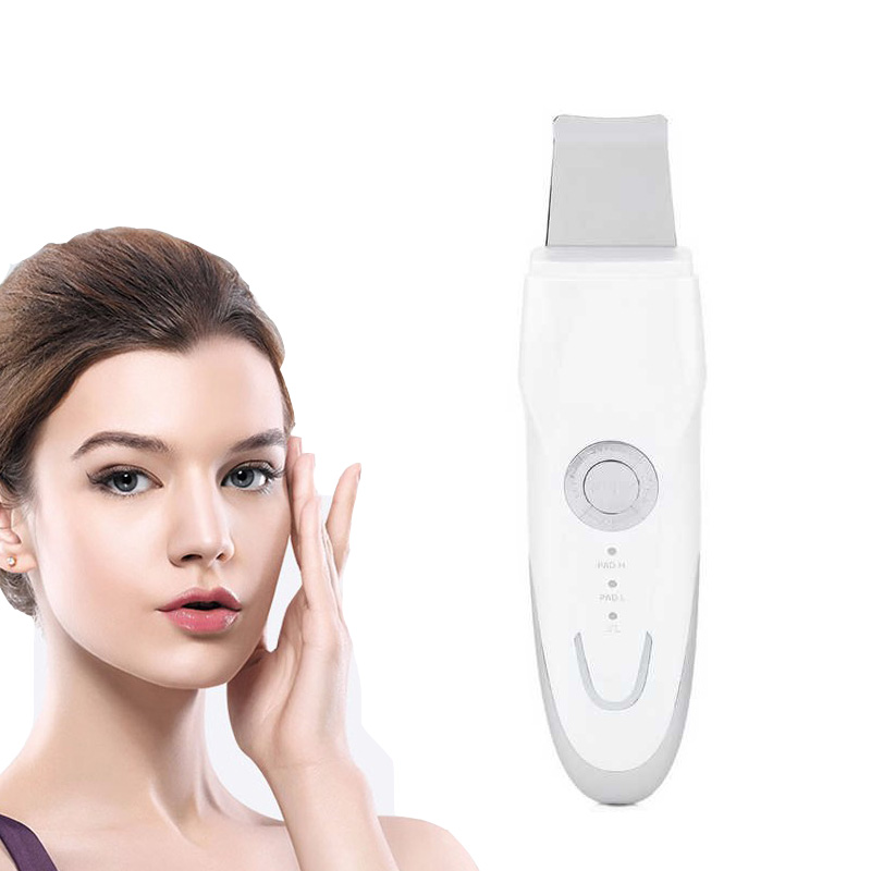 Ultrasonic Skin Scrubber Face Skin care Ion Rechargeable Dermabrasion Facial Cleanser whitening Vibration Peeling Massage Spa rechargeable facial massage cleanser