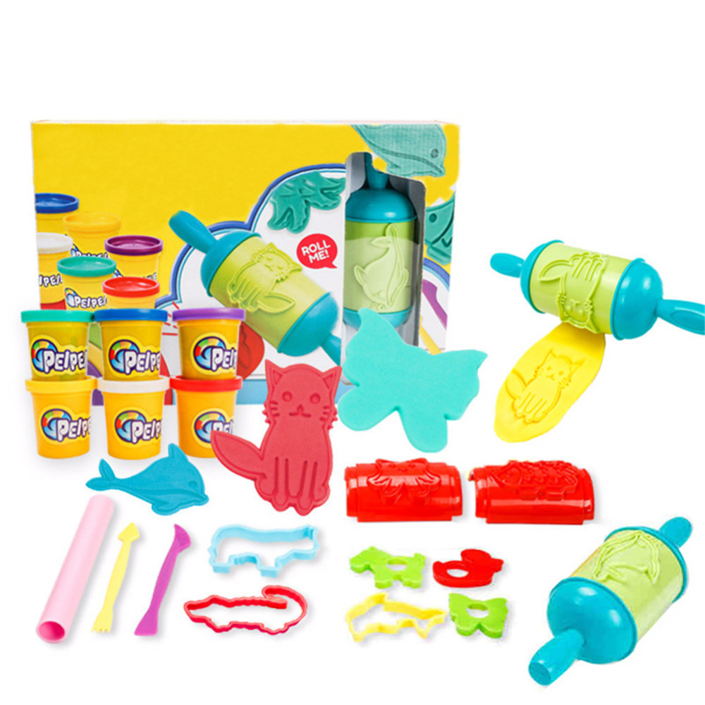 Magic Roller Colorful Plasticine Toy Set Safe and Non-toxic DIY Educational Toys for girl children and kids